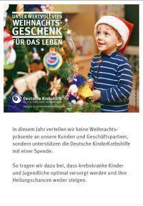 Einleger Deutsche Kinderkrebshilfe Spende 2018 Höfel Antriebselemente